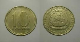 Angola KM#86.1AO77NDf - 10 KWANZAS 1977ND