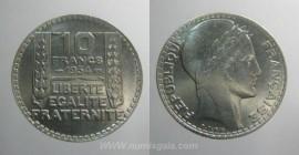 França KM#878FR34c - 10 FRANCS 1934