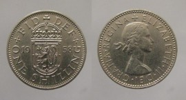 Great Britain KM#905GB58 - 1 SHILLING 1958