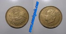 Espanha KM#1006ES99b - 100 PESETAS 1999