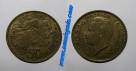 Mónaco KM#132MC50 - 50 FRANCS 1950