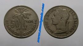 Belgica Congo KM#23BE1923 - 50 CENTIMES 1923