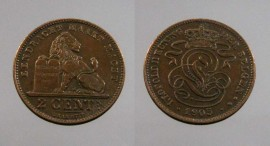 Belgica KM#36BE1905 - 2 CENTIMES 1905