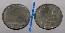 Brasil KM#599BR85o - 5 CRUZEIROS 1985 (FAO)