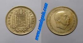 Espanha KM#796ES74d - 1 PESETA 1974