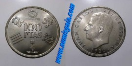 Espanha KM#820ES80b - 100 PESETAS 1980