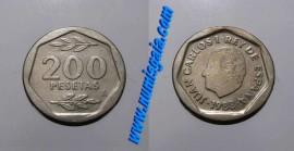 Espanha KM#829ES88b - 200 PESETAS 1988