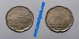 Espanha KM#906ES92b - 50 PESETAS 1992