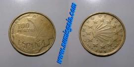 Espanha KM#922ES93a - 100 PESETAS 1993