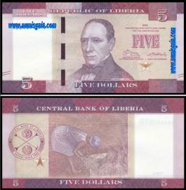 Libéria LBR5(2016)f - 5 DOLLARS 2016