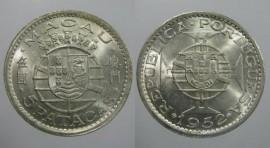 Macau KM#5MO52b - 5 PATACAS 1952 (Prata)