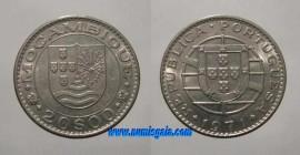 Moçambique KM#87MZ71n - 20 ESCUDOS 1971 (Cupro Níquel)