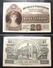 Portugal cédula MA11 - 20 CENTAVOS 1925 (CASA DA MOEDA)