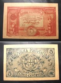 Portugal cédula MA5(d) - 5 CENTAVOS BRONZE 1918 CASA DA MOEDA