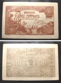 Portugal cédula CASA DA MOEDA MA6(b) - 10 CENTAVOS BRONZE
