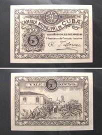 Portugal cédula MA804(c) - 5 CENTAVOS Câmara Municipal CUBA 1919