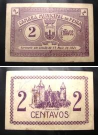Portugal cédula MA889(a) - 2 CENTAVOS 17 Maio 1921 Câmara Municipal VILA DA FEIRA