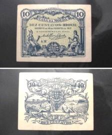 Portugal cédula MA8(a) - 10 CENTAVOS 1917 CASA DA MOEDA