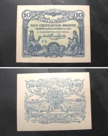 Portugal cédula MA8(b) - 10 CENTAVOS 1917 CASA DA MOEDA