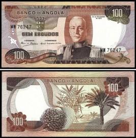 Angola AGO100(1972)y - 100 ESCUDOS 24 Novembro 1972 Marechal Carmona