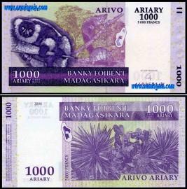 Madagascar MDG1000=5000(2004) - 1000 ARIARY = 5000 FRANCS 2004