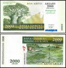 Madagascar MDG2000=10000(2004) - 2000 ARIARY = 10000 FRANCS 2004