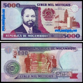 Moçambique - 5000 METICAIS 1991