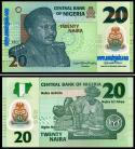 Nigéria - 20 NAIRA 2021