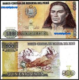 Peru PER500(1987)q - 500 INTIS 1987