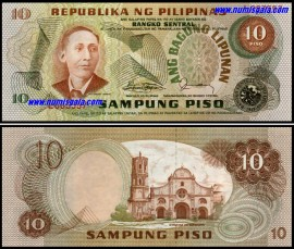 Philippines PHL10(1974-85ND)e - 10 PESOS (1974-85ND)