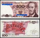 Polónia - 100 ZLOTYCH 1988