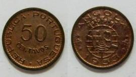 Angola KM#75AO53 - 50 CENTAVOS 1953