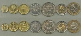 Portugal Colecção escudos moedas correntes 2000
