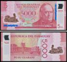 Paraguay - 5000 GUARANÍES 2011