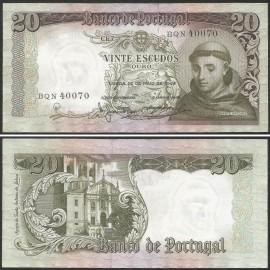 Portugal BP063(BQN40070) Chapa7 - 20 ESCUDOS 26 Maio 1964 Santo António (verde)