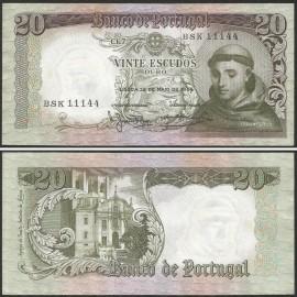 Portugal BP063(BSK11144) Chapa7 - 20 ESCUDOS 26 Maio 1964 Santo António (verde)