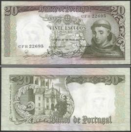 Portugal BP063(CFH22695) Chapa7 - 20 ESCUDOS 26 Maio 1964 Santo António (verde)