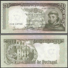 Portugal BP063(CZK19756) Chapa7 - 20 ESCUDOS 26 Maio 1964 Santo António (verde)