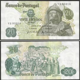 Portugal BP064(VZ33210) Chapa8 - 20 ESCUDOS 27 Julho 1971 Garcia de Orta