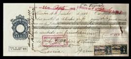 Portugal PRT-LETRA1$50(1928-905$00) - Letra 1$50 CENTAVOS Casa da Moeda 4 Junho 1928
