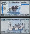 Rwanda - 500 FRANCS 2013