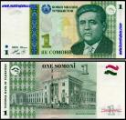 Tajikistan TJK1(1999)g - 1 SOMONI 1999