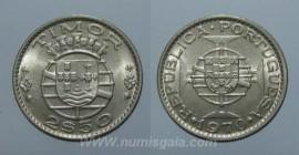 Timor KM#20TP70j - 2,50 ESCUDOS 1970