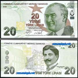 Turquia TUR20(2009-2019ND)d - 20 LIRA 2009-2019ND