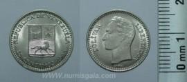 Venezuela Y#40VE65a - 25 CENTIMOS 1965