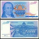 Yugoslávia - 5000 DINARA 1994