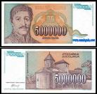 Yugoslávia - 5000000 DINARA 1993