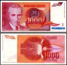 Yugoslávia YUG1000(1992) - 1000 DINARA 1992