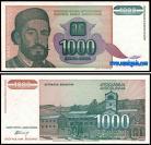 Yugoslávia - 1000 DINARA 1994