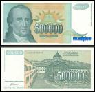 Yugoslávia - 500000 DINARA 1993